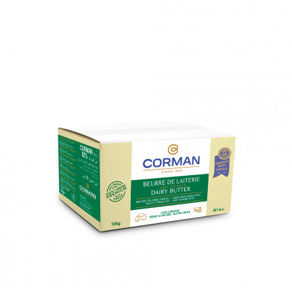 Mantega de Lleteria 82% MG en bloc (10kg), Corman