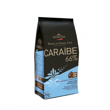 Cobertura negra Caraïbe 66% (3kg), Valrhona