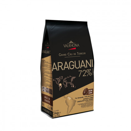 Cobertura negra Araguani 72% (3kg), Valrhona