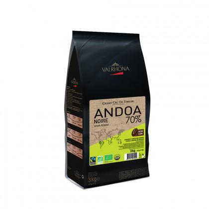 Cobertura negra Andoa Noire 70% (3kg), Valrhona
