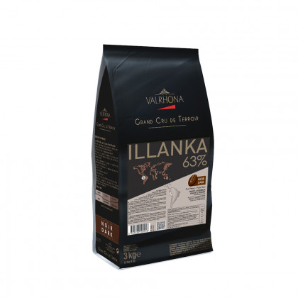 Cobertura negra Illanka 63% (3kg), Valrhona