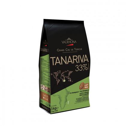 Cobertura amb llet Tanariva 33% (3kg), Valrhona