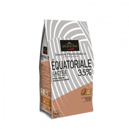 Cobertura amb llet Équatoriale Lactée 35% (3kg), Valrhona