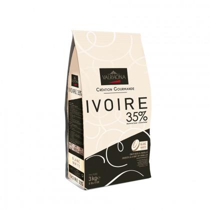 Cobertura blanca Ivoire 35% (3kg), Valrhona