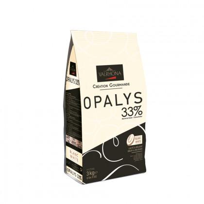Cobertura blanca Opalys 33% (3kg), Valrhona