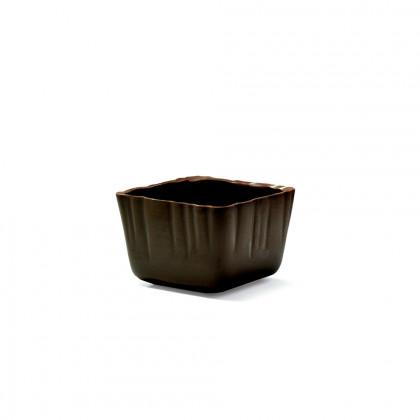 Decoració Carré cup negre (47x47x32mm), Dobla - 66 unitats