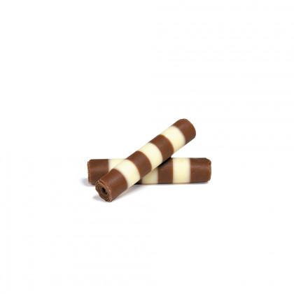 Decoració Mistral xocolata amb llet/blanc (40x8,8mm), Dobla - 1085 unitats
