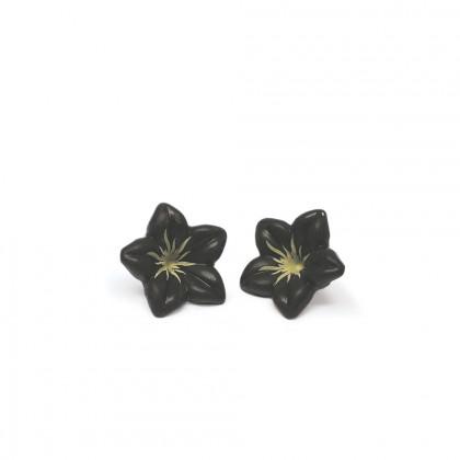 Decoració Flor negra (Ø30mm), Dobla - 76 unitats