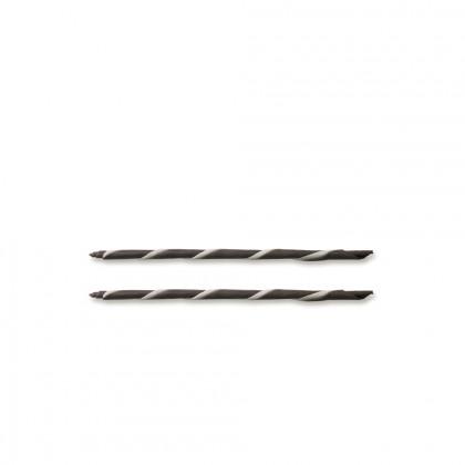 Decoració Cigarreta ratllada negre/blanc (Ø5x150mm), Dobla - 200 unitats