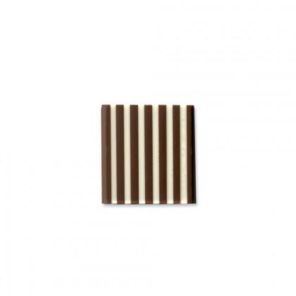 Decoració Domino quadrat negre/blanc (35x35mm), Dobla - 500 unitats