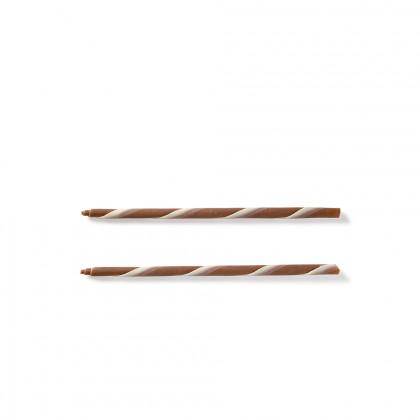 Decoració Cigarreta retro llet/blanca (Ø5x150mm), Dobla - 200 unitats