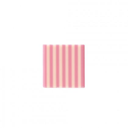 Decoració Domino blanc/rosa (35x35mm), Dobla - 500 unitats