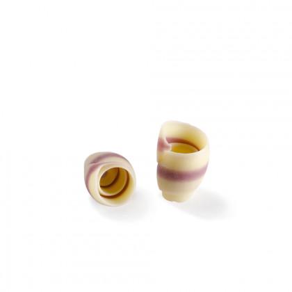 Decoració Rose blanca/lila (13-18x18-25mm), Dobla - 180 unitats