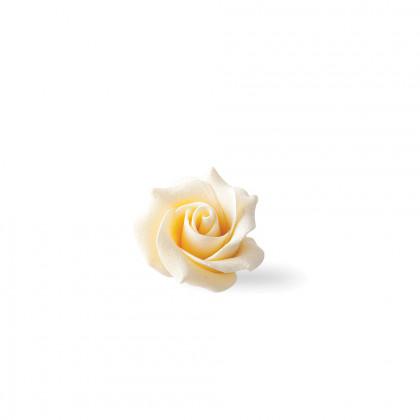 Decoració Rosa blanca (45x30mm), Dobla - 15 unitats
