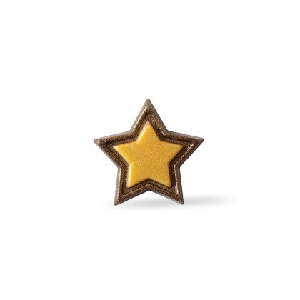 Decoració Golden star (Ø30mm), Dobla - 240 unitats