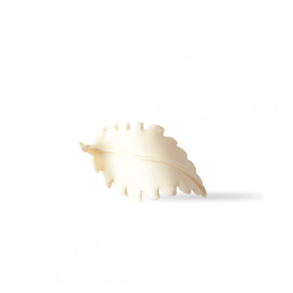 Decoració Fulla blanca 3D (65x34mm), Dobla - 96 unitats