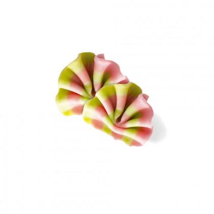 Decoració Ventall mini rosa/verd (35-37x27-33mm), Dobla - 475 unitats