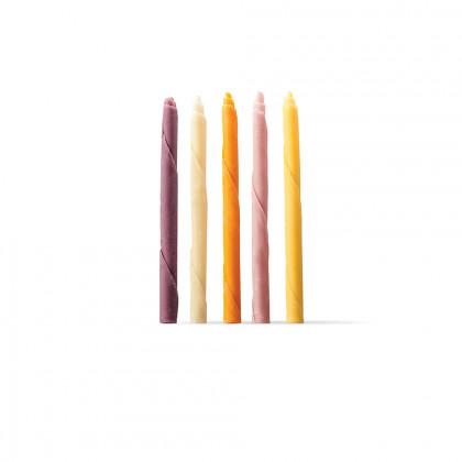 Decoració Cigarreta multicolor (Ø6x100mm), Dobla - 210 unitats