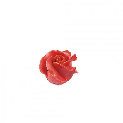 Decoració Rosa vermella (45x30mm), Dobla - 15 unitats