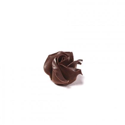 Decoració Rosa negra (45x30mm), Dobla - 15 unitats