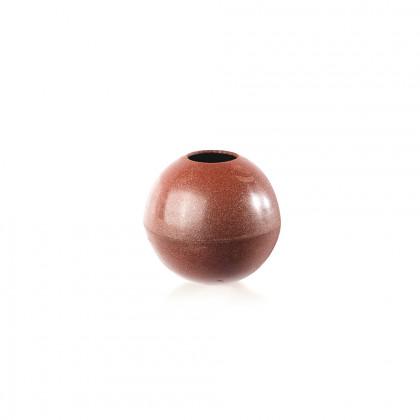 Decoració Esfera vermella brillant (Ø60x56mm), Dobla - 36 unitats