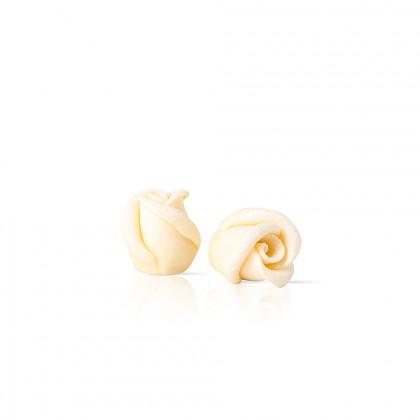 Decoració Mini rosa blanca (24x22mm), Dobla - 45 unitats