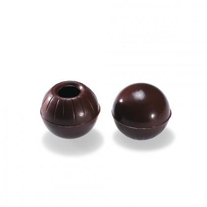 Bola buida negra 55% (2,6g/un), Valrhona - 504 unitats