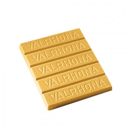 Mantega de cacau per a decoració groga (1kg), Valrhona - 3 unitats