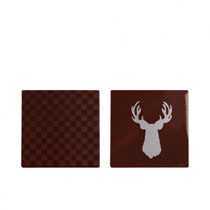 Plaques Surbrillant (70x70mm), Chocolatree - 50 unitats