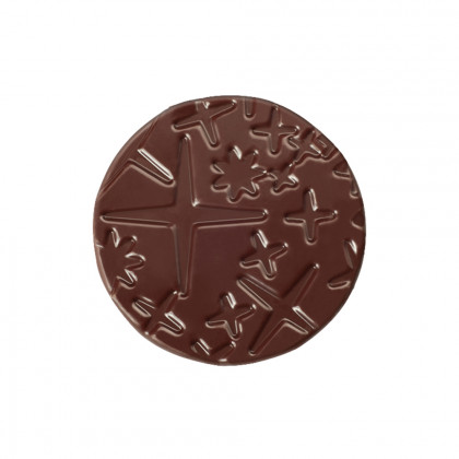 Cercle relleu Galaxie (40x40mm), Chocolatree - 100 unitats