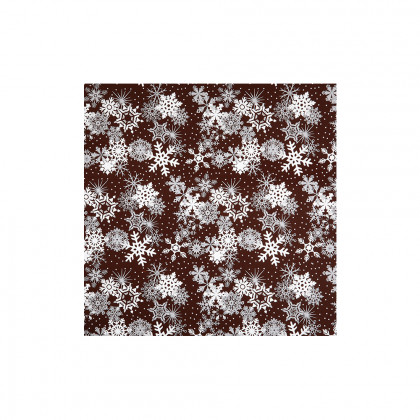 Trànsfer flocs de neu (400x250mm), Chocolatree - 20 unitats