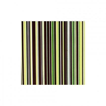 Trànsfer ratlles verd (400x250mm), Chocolatree - 20 unitats