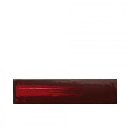Rectangle pinzellada bordeus (120x30mm), Chocolatree - 45 unitats