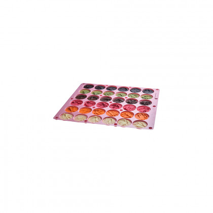Assortiment de discos de xocolata de colors amb relleu, La Rose Noire