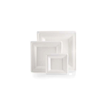 Plat Fibra Carree color blanc 200x200mm 250u. Bio Line