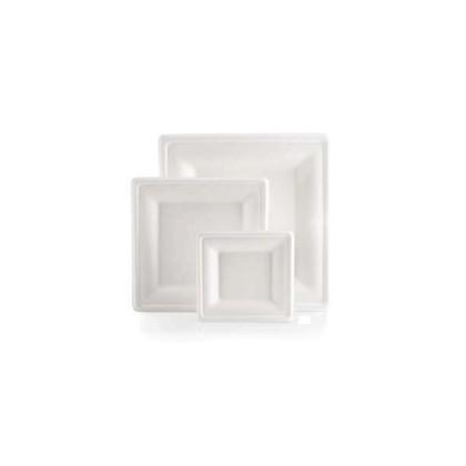 Plat Fibra Carree color blanc 260x260mm 250u. Bio Line