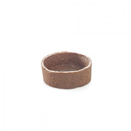 Mini trendy shell xocolata (rodó) (4x1,5cm), Pidy - 96 unitats