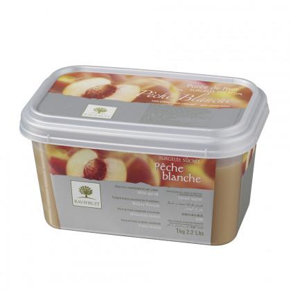 Polpa de préssec blanc congelada (1kg), Ravifruit