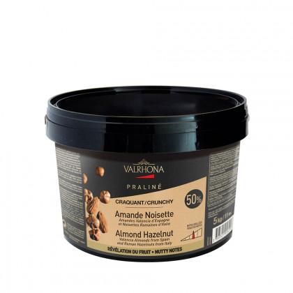 Praliné d'ametlla i avellana 50% de fruit cruixent (5kg), Valrhona