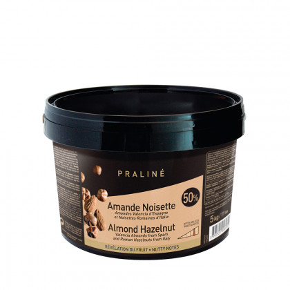 Praliné d'ametlla i avellana 50% (5kg), Valrhona