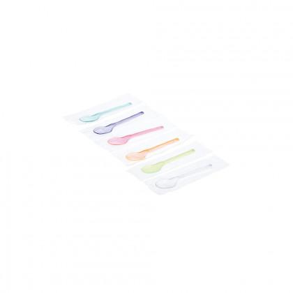 Cullereta Plàstic Transparent Colors Assortits en bossa Individual 13 cm / 500 Ut