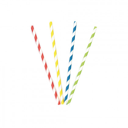 Canya de paper recta de colors (6x200 mm)