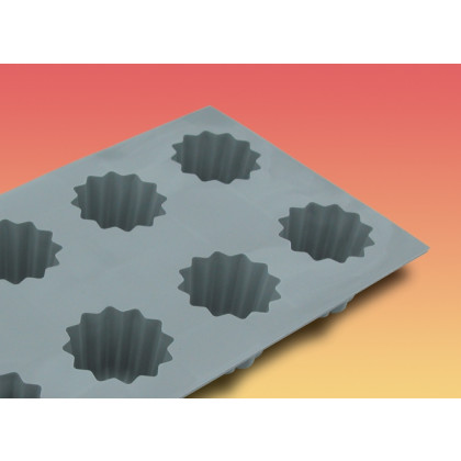 Motlle silicona elastomoule 6 porcions acanalats bordelès 8 2 cl