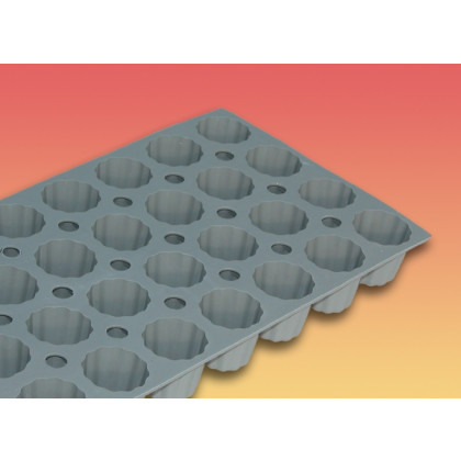 Motlle silicona elastomoule 28 minimotlles acanalats bordelès 1,9 cl