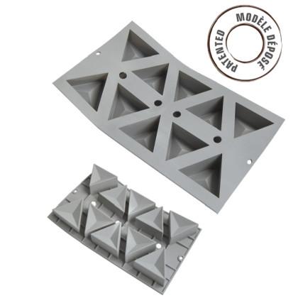 Motlle silicona elastomoule porcions geo 10 triangles
