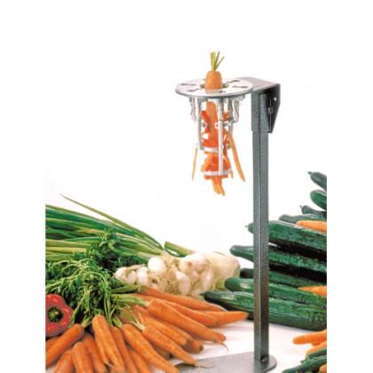 Pelador de pastanagues grans sobre peu inox amb polsador