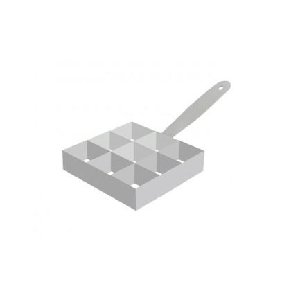 Cèrcol d'emplatat Mosaic 9 seccions (90x90x30mm), 100% Chef