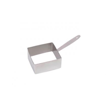 Cèrcol d'emplatat quadrat XS (75x75x30mm), 100% Chef