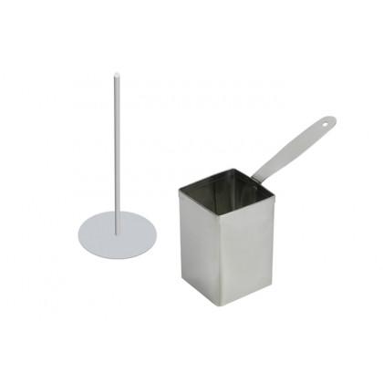 Cèrcol alt d'emplatat quadrat (40x40xh80mm), 100% Chef