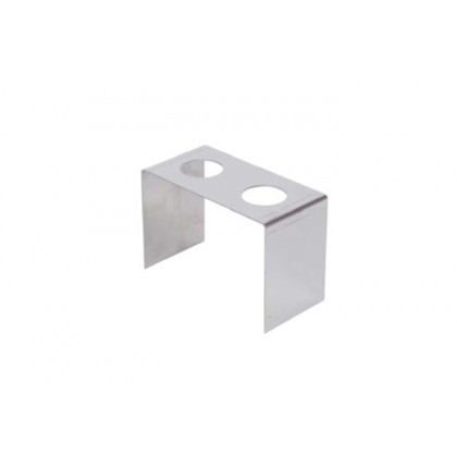 Suport inox per a 2 cons (120x60x90mm), 100% Chef